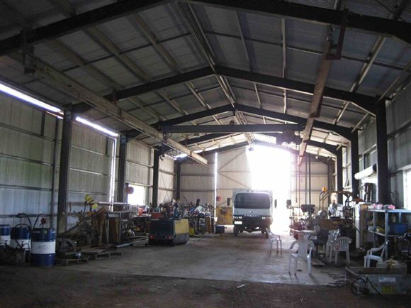 Inside view of shed, photo 1