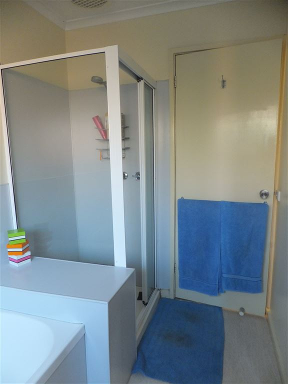 Bathroom with bath, separate shower & vanity
