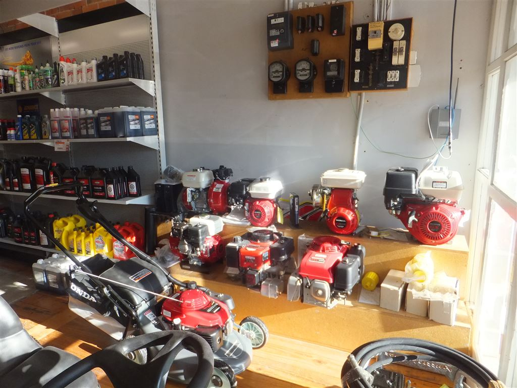 Shop floor with full range of generators & service oils & parts