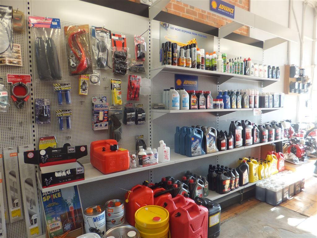 Shop floor showing service parts & accessories