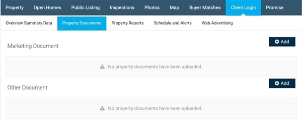 Client Login Property Docs