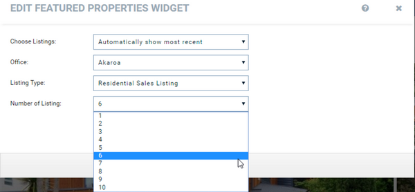 Harcourts Websites Feature Property Widget