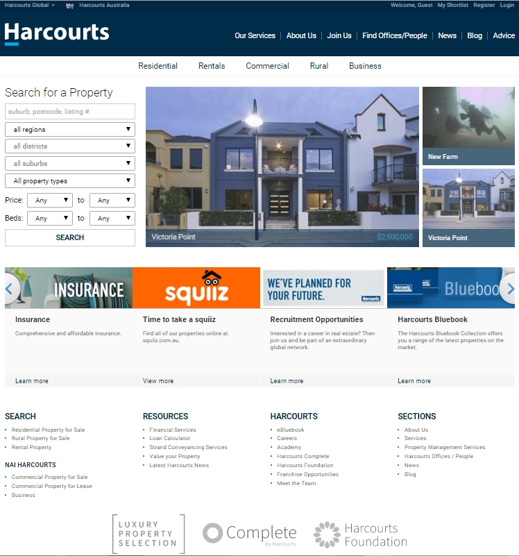Re-Branded Harcourts Public Site