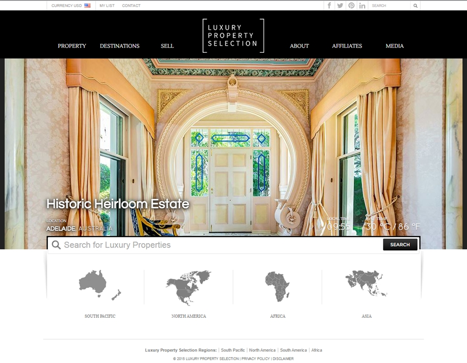 Luxury Property Selection (LPS) Website Re-Branded