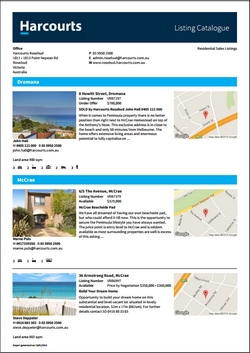 Harcourts Re-branded Listing Catalogue