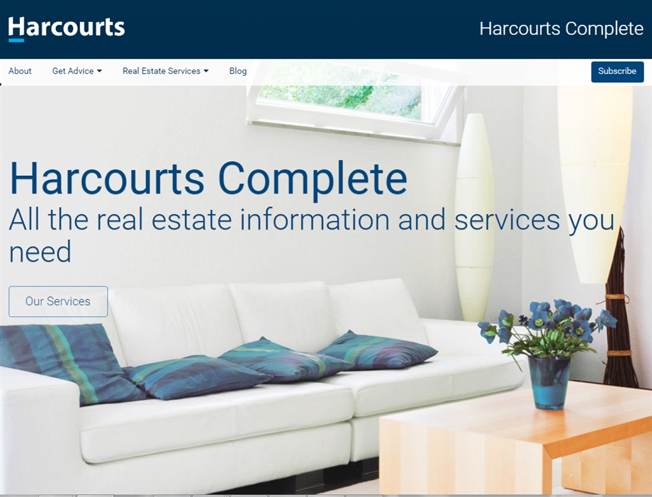 Re-Branded Harcourts Complete Website