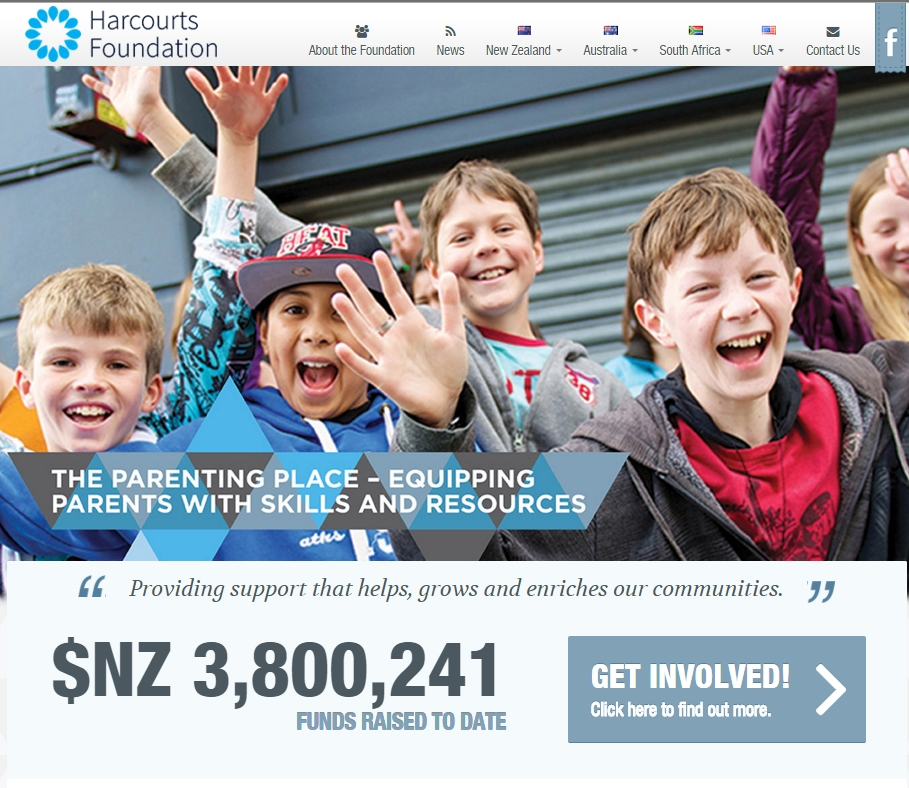 Re-Branded Harcourts Foundation Website