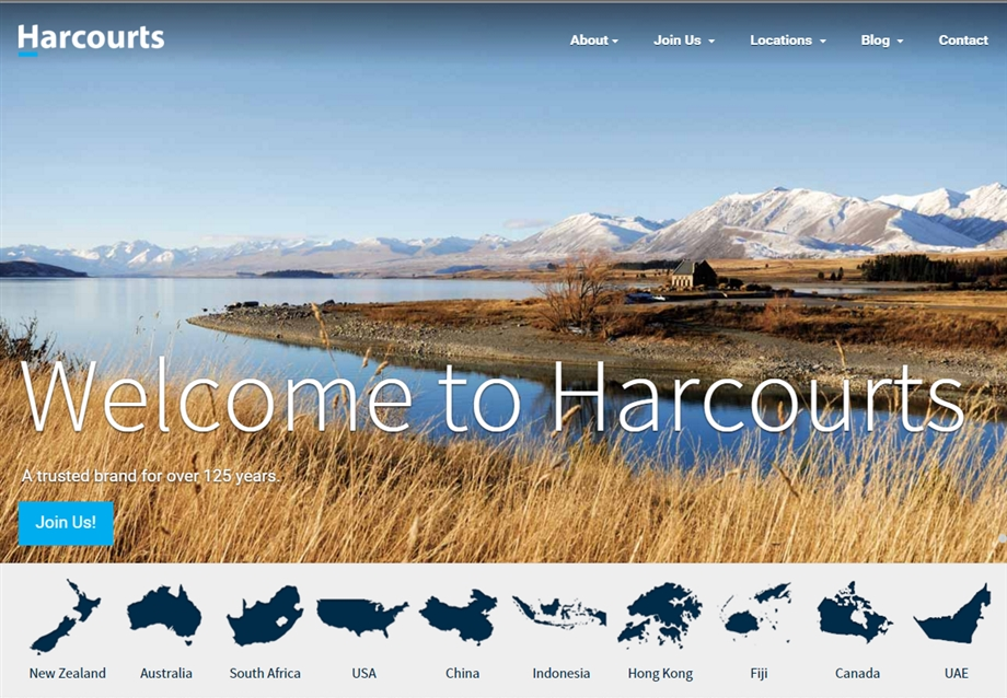 Re-Branded Harcourts International Website