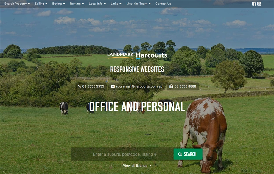 Landmark Harcourts Re-Brand Office Personal Websites