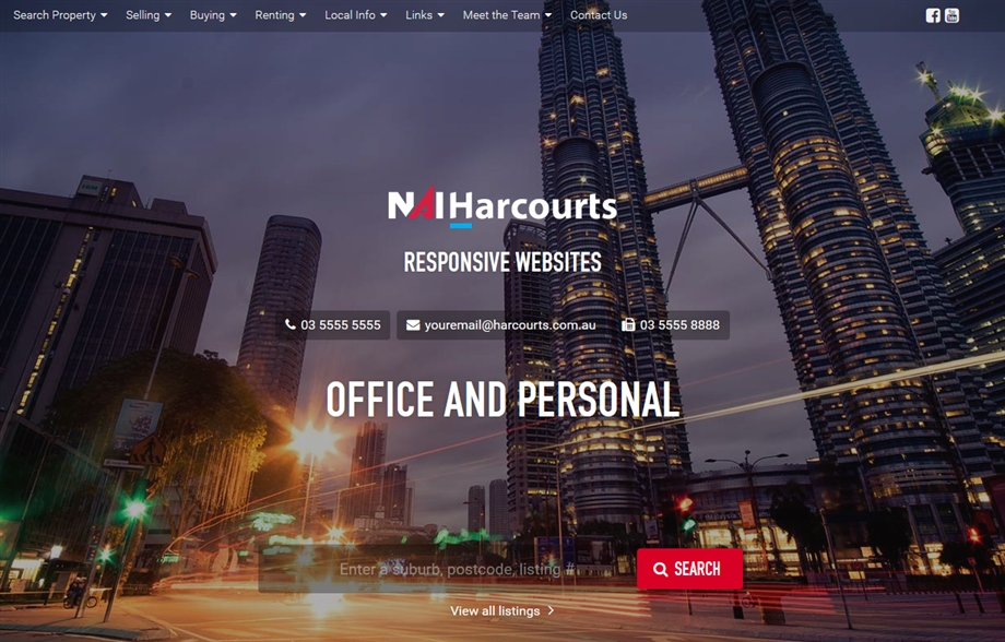 NAI Harcourts Re-Brand Office Personal Websites