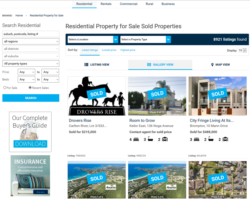 Harcourts Online Sold Banners