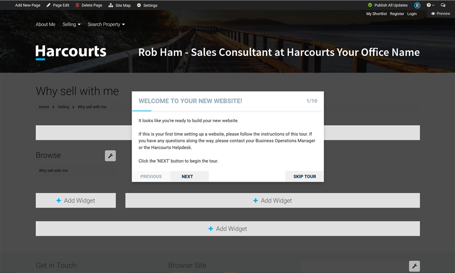 Harcourts Websites 10 Step Tour Image