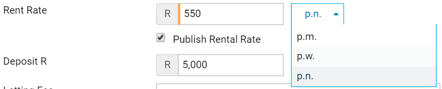 South Africa Residential Rentals Per Night and Per Week Pricing Options