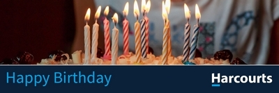 Harcourts Happy Birthday Re-brand Banner