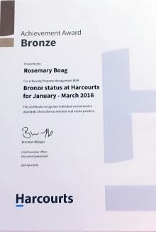 Harcourts Calamvale Bronze Award