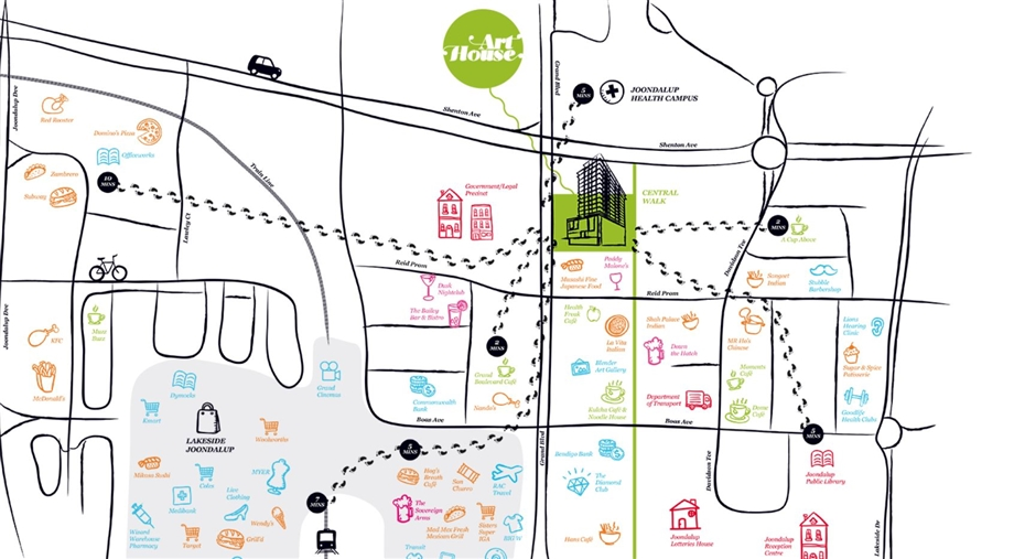 Arthouse Joondalup Map