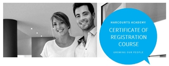 Gain your Certificate of Registration with Harcourts