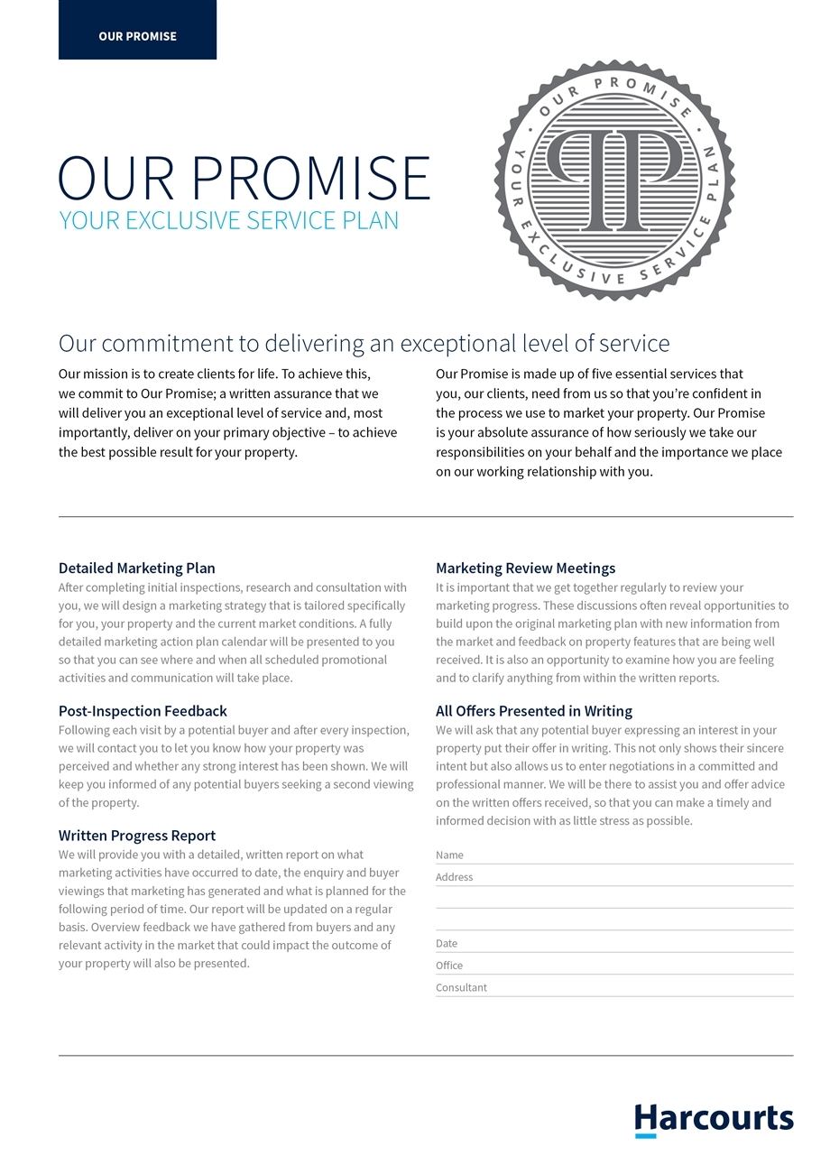 Harcourts Aqua service promise