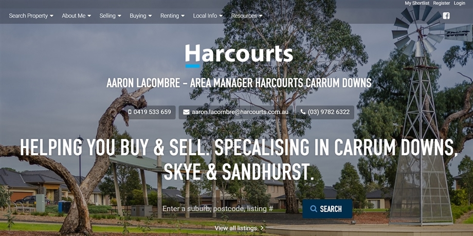 Harcourts Victoria Personal Website