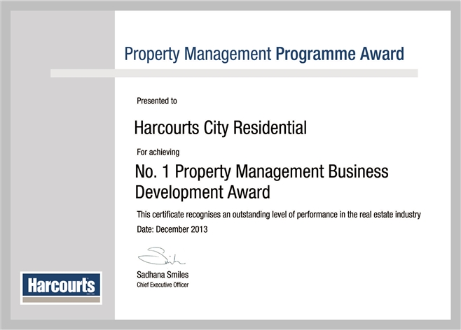 City Residential No1. Property Management Business Development Award