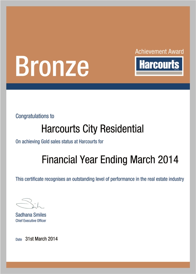 City Residential Bronze Award