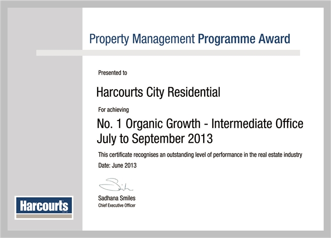City Residential Organic Growth Award