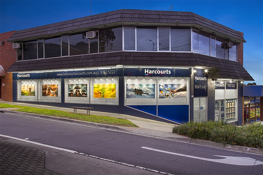 Harcourts Boronia office address exterior rebrand rebranded
