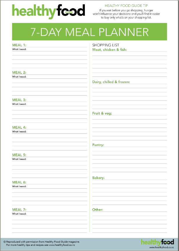 Pin Day Meal Planner Template on Pinterest