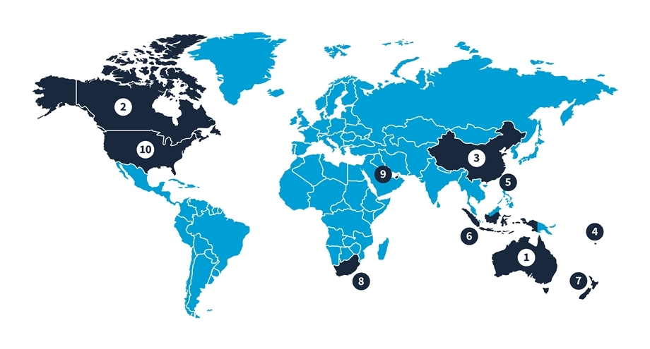 harcourts world map