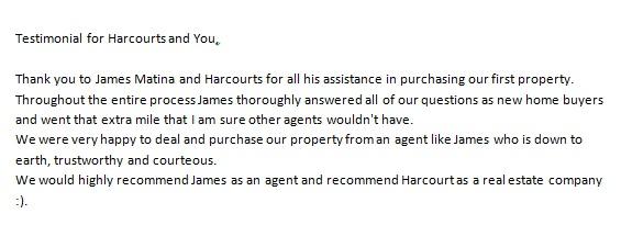 Testimonial for James