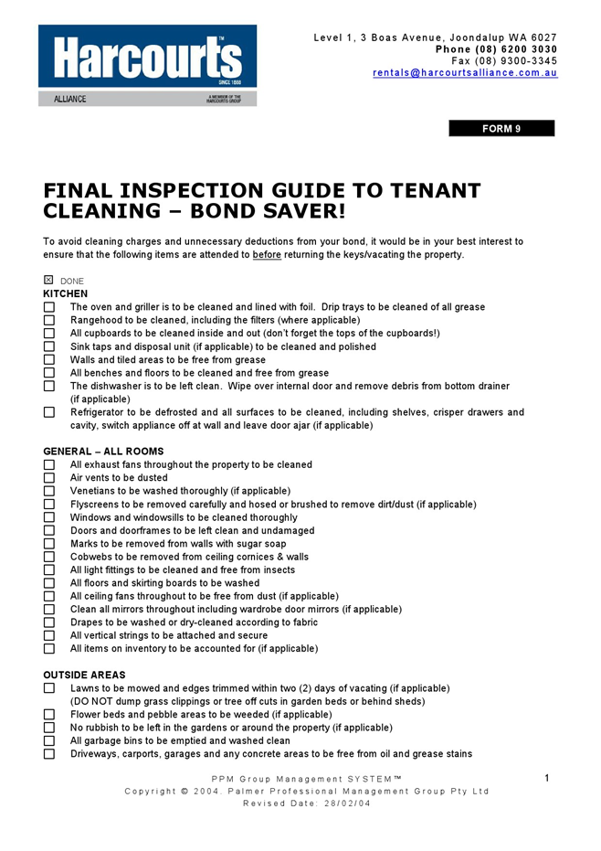 home inspection checklist templates