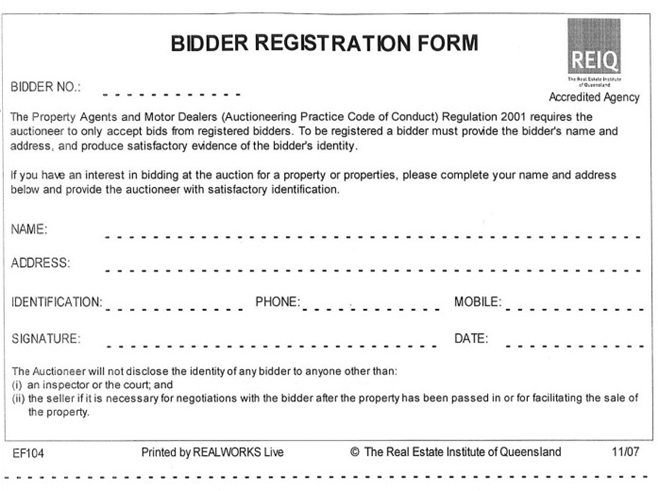 Bidder Registration Form