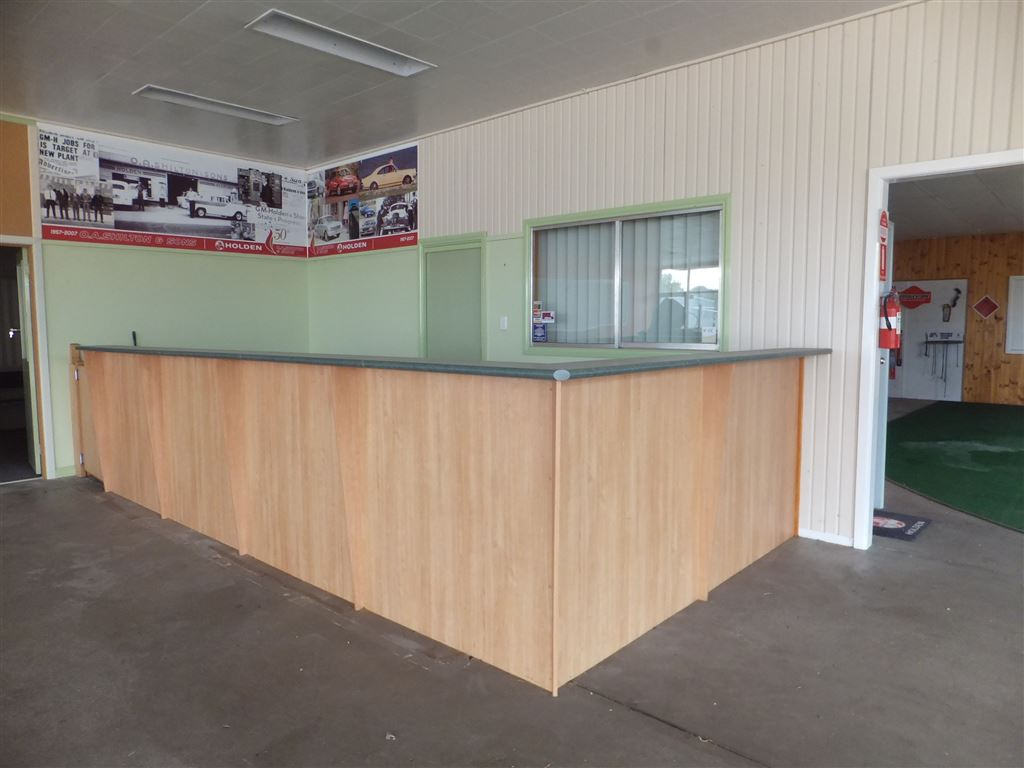 Reception area/front office from showroom floor