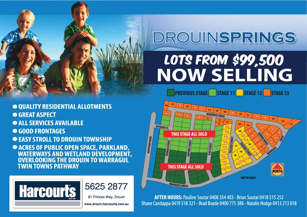 Land Release - Drouin Springs Estate - Lots From $99,500!