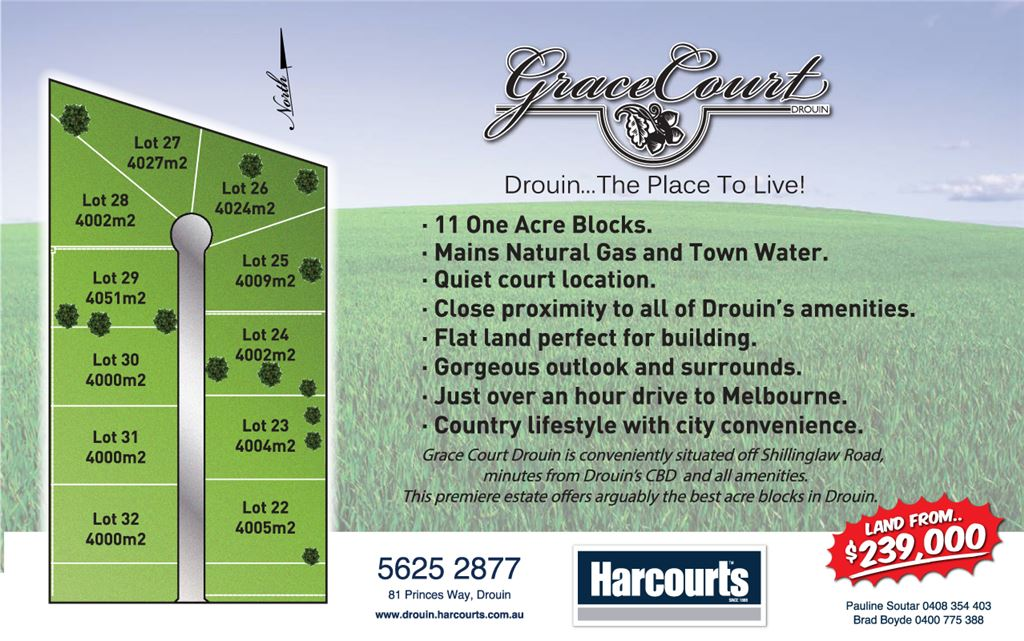 Grace Court Drouin... The Place To Live! From $239,000