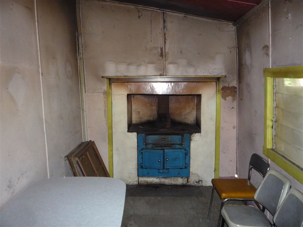 Kitchen with old wood stove