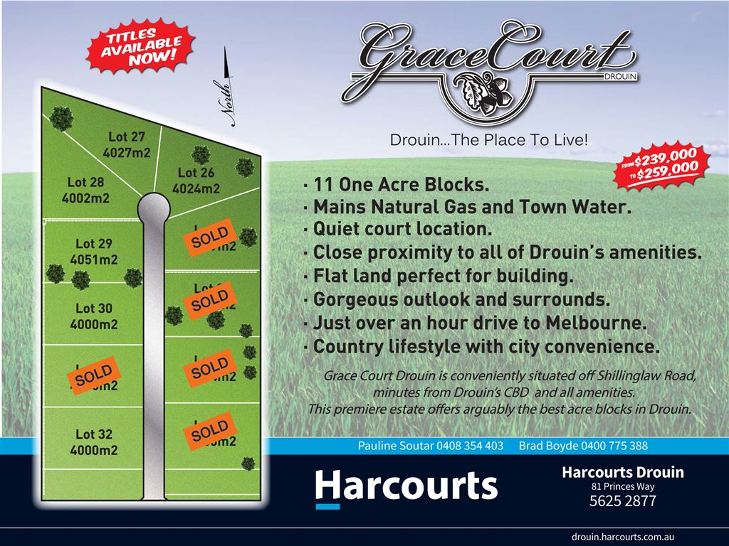 Grace Court Drouin... The Place To Live!