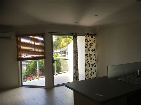 Dining area off kitchen and access to balcony