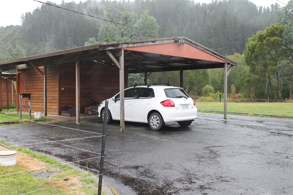 Double Carport and Tool Shed