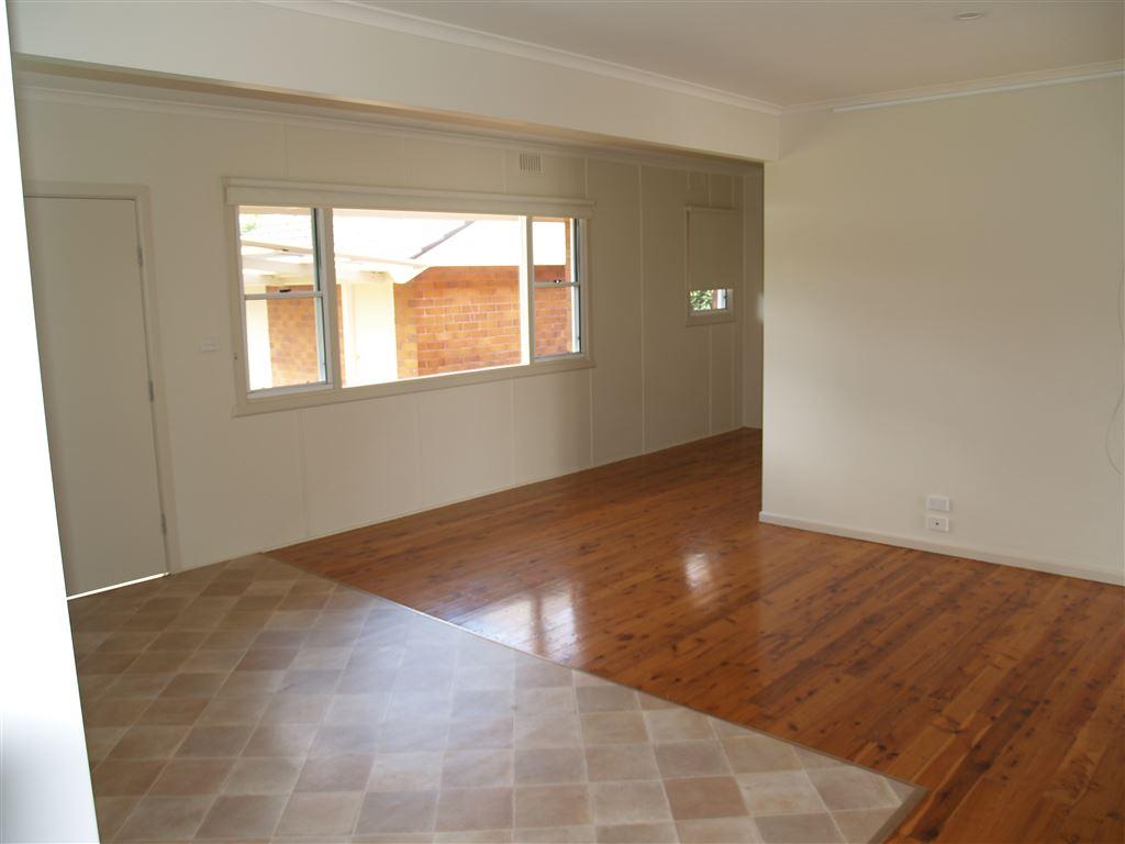 Polished floor boards
