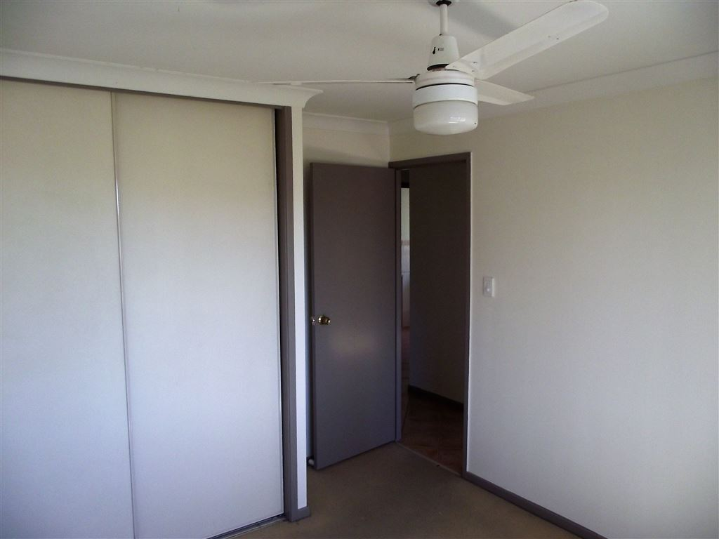 Three bedrooms all with built in wardrobes and ceiling fans