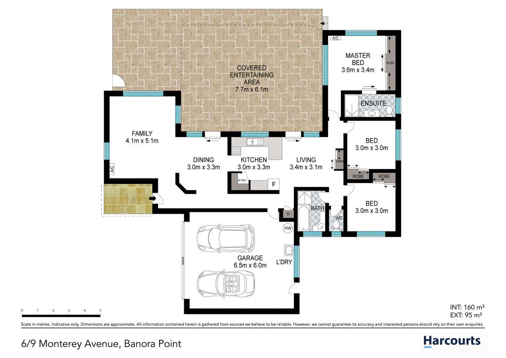Banora point 6 9 15 monterey avenue harcourts bmg for Floor plans for 160 000
