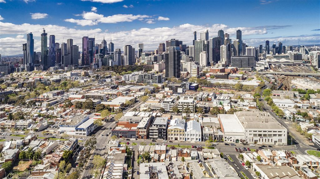 Drone View - 64-66 Abbotsford St., West Melbourne 3003