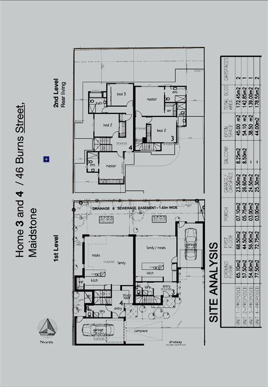 Floor plan rear