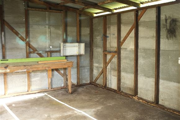 Interior of Shed