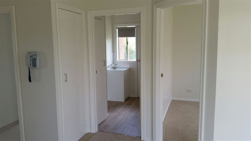 Unit 26 - view from kitchen to Bathroom & bedroom 2
