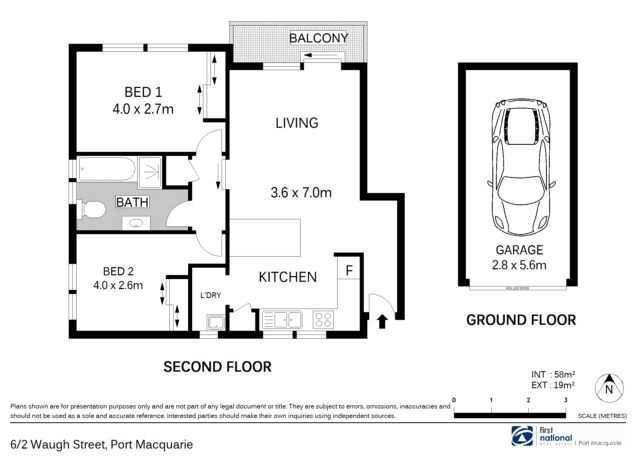 plan of unit and lock up garage