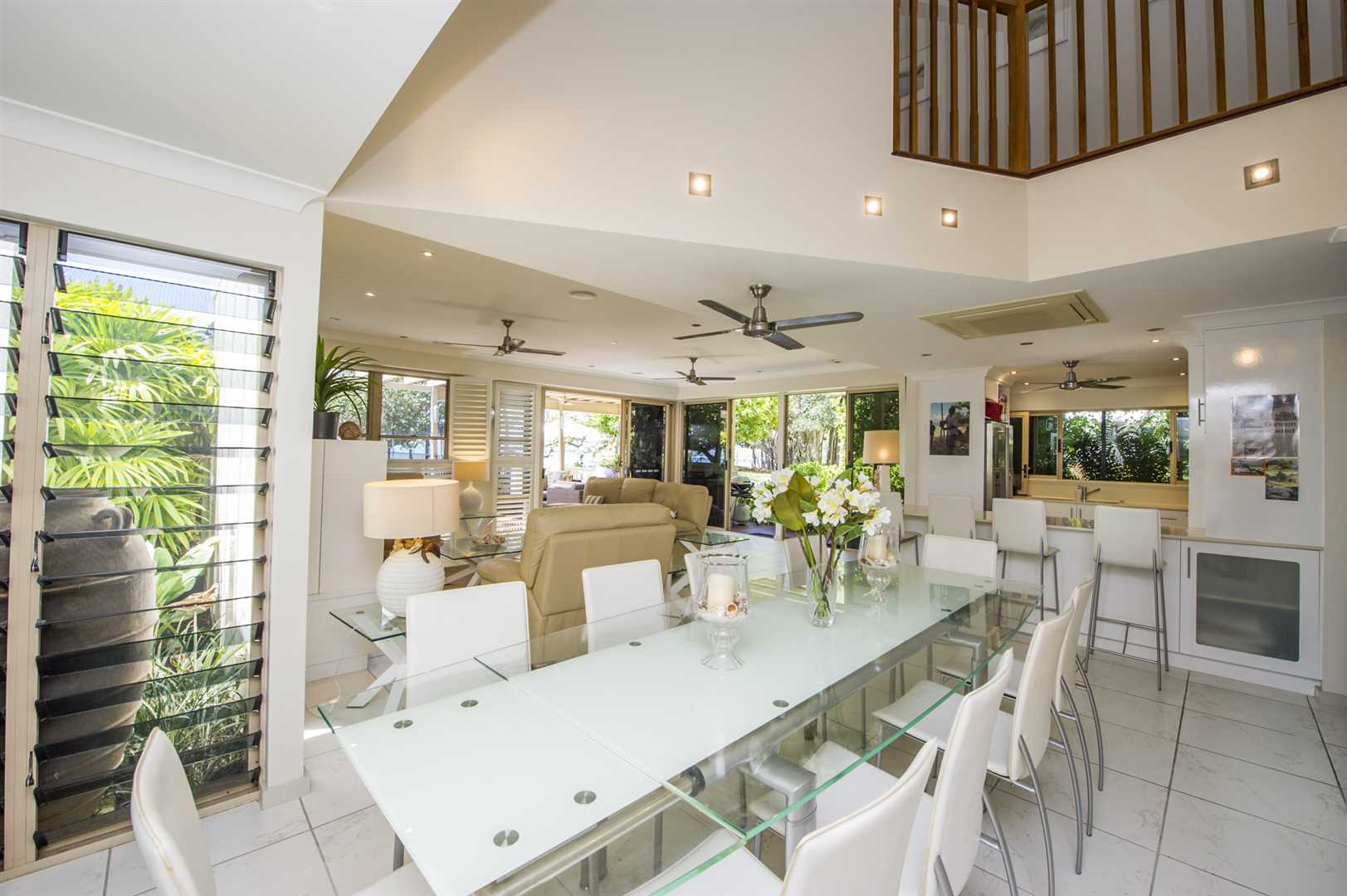 Formal Dining across open plan lounge & Kitchen.