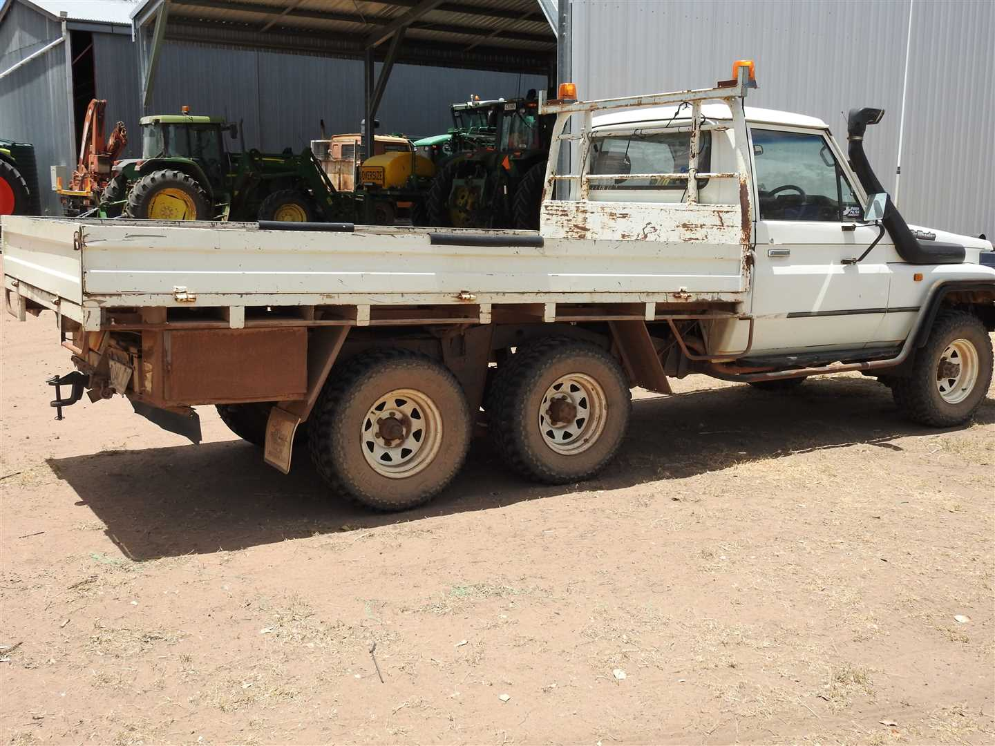 Outside vendor:  1993 Toyota 6 wheeler vin JT731PJ750856527, un registered Used as spray vehicle  with Croplands sprayer, next photo