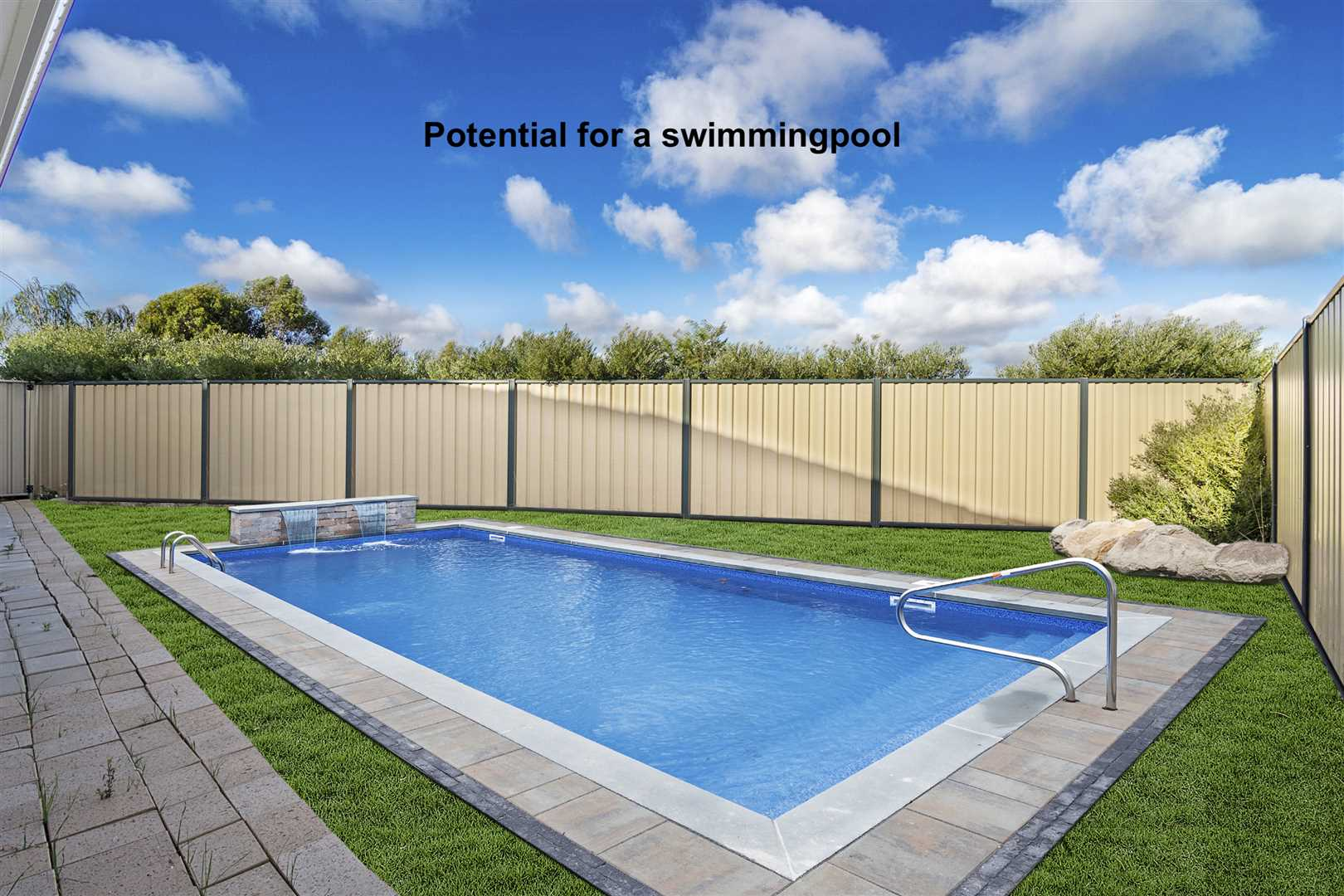 Ample room to place a pool should you wish